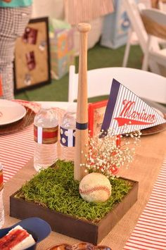 Cute baseball centerpiece