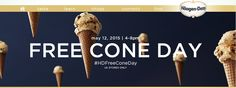 FREE CONE DAY @ Häagen-Dazs! Learn more at mamabeesfreebies.com