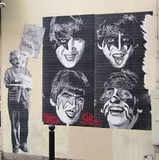 The Beatles as KISS with Einstein