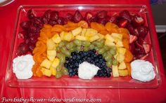 baby shower food ideas on a budget | Another healthy option is to make a rainbow veggie tray with ranch or ...