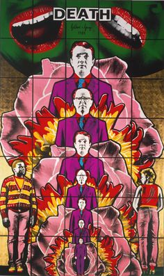 Gilbert and George, Death Hope Life Fear, 1984 Plymouth, Gilbert & George, Sir Anthony, Arte Pop, Male Figure, Vanitas, Art For Art Sake, Photomontage, Art Plastique