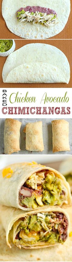 Baked Chicken Avocado Chimichangas will gather the family, make you enjoy your meal more and create good mood - and what else could be more valuable?