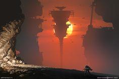 Space mine, Sviatoslav Gerasimchuk on ArtStation at https://www.artstation.com/artwork/space-mine