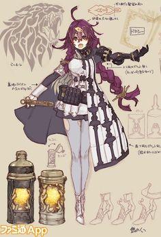 """『シノアリス』""""現実篇""""の少女を生み出したふたりのキーマンの制作秘話 現実篇グレーテルのデザイン画も初公開!【インタビュー】 [ファミ通App] Female Character Design, Character Modeling, Character Design References, Character Design Inspiration, Character Concept, Character Art, Girls Characters, Manga Characters, Fantasy Characters"""