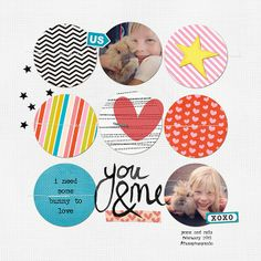 some bunny to love by crazygirl @2peasinabucket Love the circles.  Trying this on my next layout!