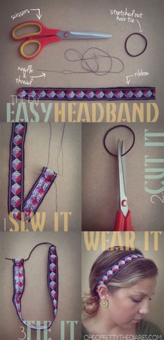 Easy Headband | You wouldn't need to cut the pony... Just see it in