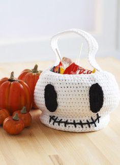 Free Halloween Skull Trick or Treat Bag Crochet Pattern