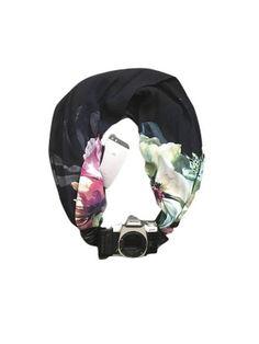 $30 Etsy scarf camera strap with pocket