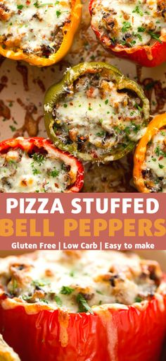 These Pizza Stuffed Bell Peppers have the flavors of my favorite pizza, but without the carbs! Mexican Food Recipes, Beef Recipes, Low Carb Recipes, Vegetarian Recipes, Dinner Recipes, Cooking Recipes, Healthy Recipes, Pepper Recipes, Pizza Recipes
