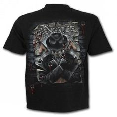 T-shirt homme squelette avec mitraillette prohibition T Shirt, Mens Tops, Submachine Gun, Skeleton, Gothic, Supreme T Shirt, Tee Shirt, Tee