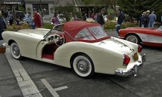 Can you believe how gorgeous this baby is? 1954 Kaiser Darrin...Ragtop?  NO WAY!