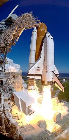 Atlantis lifts off, the 66th space shuttle flight.