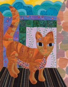 Cat quilt by Rose Hughes, in:  Design, Create, and Quilt eBook