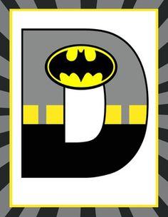 SUPER HERO - Classroom Decor: BATMAN Banner LETTERS