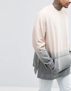 Image 3 of ASOS Oversized Sweatshirt In Dip Dye