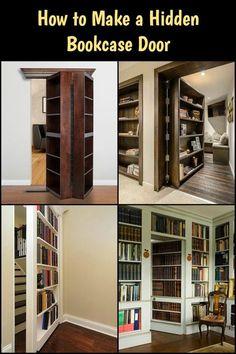 Hidden Bookcase Door Learn how to build a secret bookcase door for your home!Learn how to build a secret bookcase door for your home! Secret Door Bookshelf, Bookshelf Storage, Bookcase Door, Bookshelves Kids, Bookcases, Bookshelf Design, Corner Shelves, Wall Shelves, Bookshelf Closet