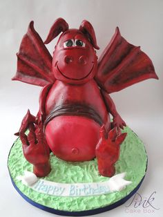 Welsh Dragon Cake by Rose a The Pink Cake Box
