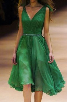 Stunning Green Mini-Dress