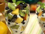 Fresh Fruit Parfait with Lemon-Poppy Seed #Yogurt. Sub sugar for unrefined sweetener