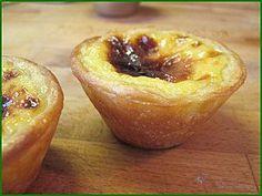 Pasteis de nata ou pasteis de belem (petits flans aromatisés au citron portugais), Recette Ptitchef 20 Min, Scones, Baked Potato, Donuts, Biscuits, Muffins, Pudding, Cupcakes, Sweets