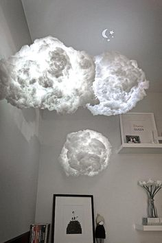 Cloud light, nursery light, nursery art, baby shower gift, lighting, night light, nursery decor, gift for mom, mood lighting, unique gift, http://www.giftideascorner.com/gifts-for-new-parents/