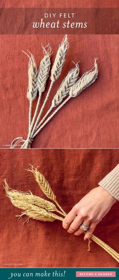 Love decorating with natural elements? Follow our tutorial to make these felt wheat stalks — beautiful on their own or in a fall arrangement!