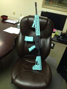 Tiffany Blue AR 15 ~ I would like it designed a little different but I love this tiffany color ...now if I could also just have a tiffany blue Barret my life would be complete lol