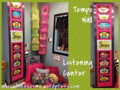 miscellaneousme.wordpress.com cara's classroom 2012 listening center tempo