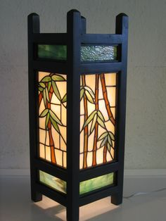 Bamboo Lantern - think screen with translucent panels
