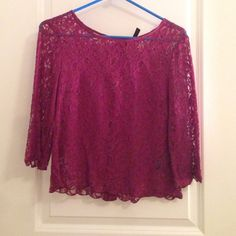 Burgundy lace top Bought it at H&M- fits like XS or S Divided Tops Blouses