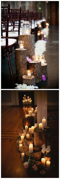 rustic boho tree stump wedding decor / http://www.himisspuff.com/rustic-wedding-ideas-with-tree-stump