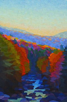 "Contemporary Painting - ""Dusk in the Great Gulf Wilderness"" (Original Art from Brian Kiernan)"