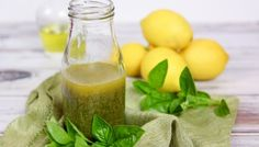 5 Ingredient Basil Vinaigrette Salad Dressing