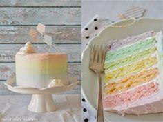 Somewhere Over the Rainbow Cake