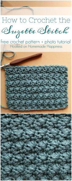 crochet stitches patterns The Suzette Stitch is one of my favorite stitches! I thought I would share a photo tutorial on How to Crochet the Suzette Stitch. This stitch creates Beau Crochet, Pull Crochet, Stitch Crochet, Love Crochet, Learn To Crochet, Beautiful Crochet, Crochet Hooks, Crochet Motif, Crotchet