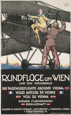Passenger Flights Around Vienna Vintage Poster Vintage Advertisements, Vintage Ads, Ski Posters, Modern Posters, Neumann, Harry Potter Poster, Aircraft Painting, Airplane Art, Vintage Airplanes