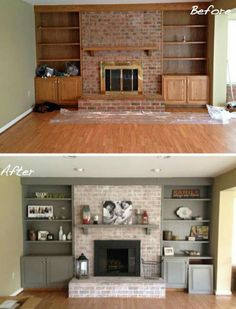 Transforming an old foreplace and built ins