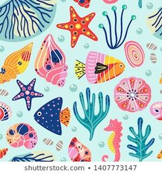Ilustrações stock, imagens e vetores de Sea Shell | Shutterstock Underwater Sea, Shell, Kids Rugs, Beautiful, Pattern, Shorts, Decor, Vectors, Nautical Theme