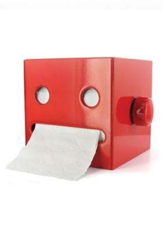 Robotan Toilettenpapierhalter Rot