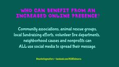 Grow your following by sharing what you do, and increase awareness of your rescue.