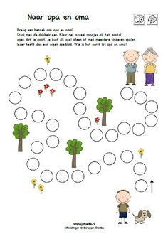 opa en oma kleuters juf anke Indoor Activities, Activities For Kids, Grandparents Day Crafts, Learn Dutch, Family Theme, Grands Parents, Kindergarten Science, Too Cool For School, Preschool Worksheets