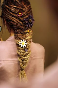 Fish braid with rastas