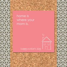 Mothers Day - Home Is Where Your Mom Is