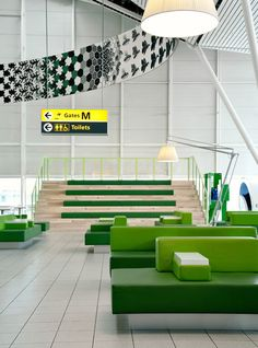 An Airport Terminal That Perks You Up Instead Of Grinding You Down—Images courtesy of Tjep., Images by Mike Bink Airport Architecture, Interior Architecture, Interior Design, Airport Design, Airport Lounge, Outdoor Sofa, Outdoor Decor, User Experience Design, Customer Experience