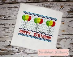 Birthday Shirt with Personalization  by KnuckleheadNeedlewrk, $20.00
