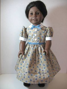 From 2011 - Civil War summer dress for Addy from an All Times Fashion pattern