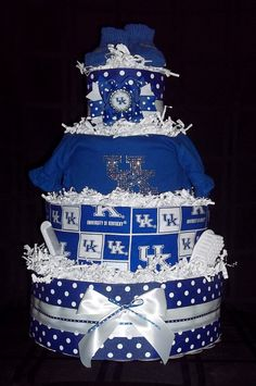 University of Kentucky UK Diaper Cake by CutiePieGifts on Etsy, $99.99