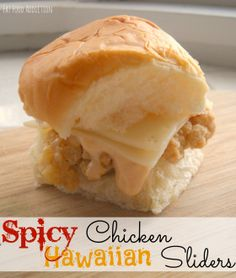 Uses chicken fingers and hawaiin rolls! Perfect for kids!