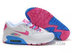 http://www.jordan2u.com/nike-air-max-90-womens-pink-white-blue-for-sale-bc87b.html NIKE AIR MAX 90 WOMENS PINK WHITE BLUE FOR SALE BC87B Only 69.68€ , Free Shipping!