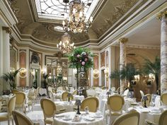 The Palm Court at The Ritz London.